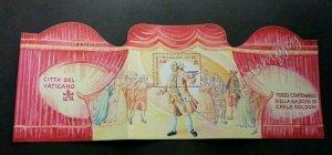 Vatican Theatre 2007 Art Movie Opera (ms MNH *unfolded *rare *odd shape *unusual