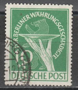 WEST BERLIN 1949 BERLIN RELIEF FUND 10+5PF USED