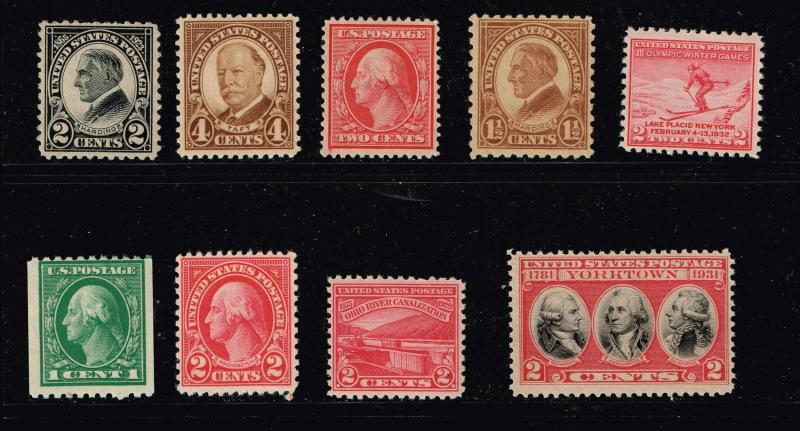 US STAMP 1920-30'  MINT STAMP COLLECTION LOT #S4