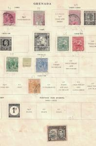 Grenada - A Nice Early Lot Of 9 All Different. Used.  #02 GRENA9