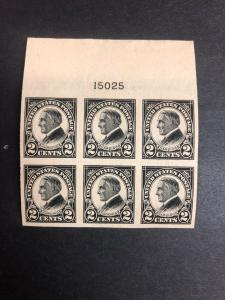 611 Plate Block Of 6 Superb Wide Top Mint Never Hinged. Very Nice
