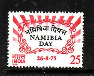 India-Sc#689-unused NH set-Namibia Day-1975-