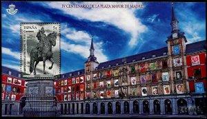 HERRICKSTAMP NEW ISSUES SPAIN Plaza Mayor Souvenir Sheet