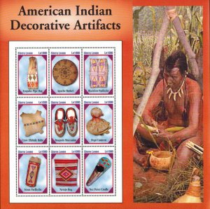 Sierra Leone MNH S/S American Indian Artifacts X-Large Size