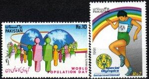 Pakistan #746-7 MNH CV $4.60 (P208)