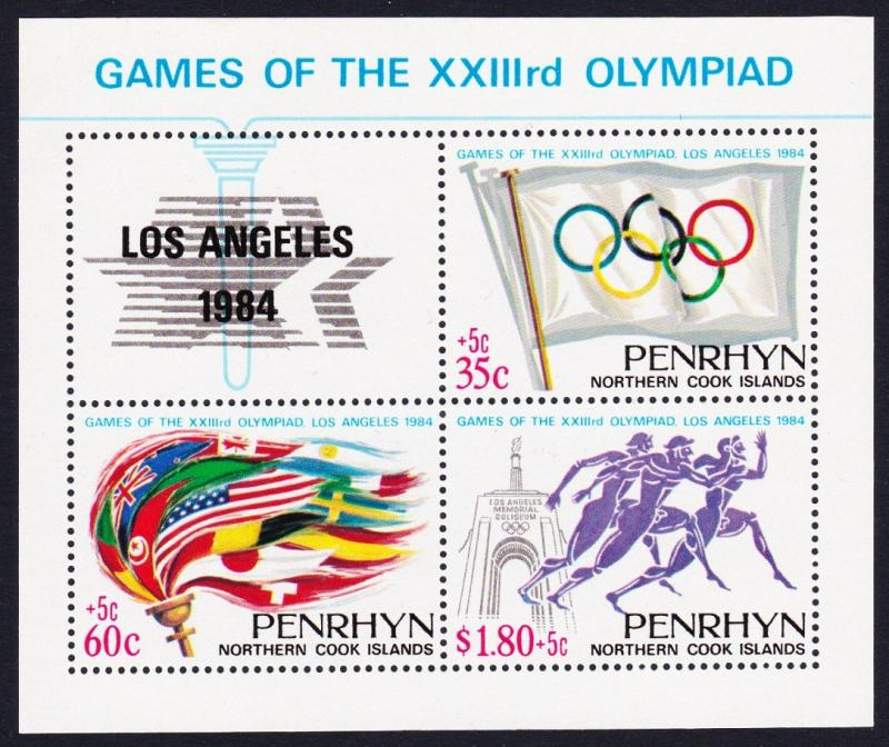 Penrhyn Olympic Games Los Angeles MS SG#MS359 SC#295
