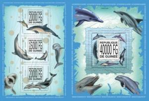 Guinea 2013 marine life dolphins nice klb+s/s MNH