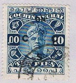 India Cochin 28 Used Sri Rama Varma II 1918 (BP35717)