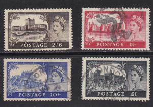 Great Britain # 309-312, Used