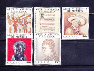 Mexico C439-C443 Set MH Art And Science