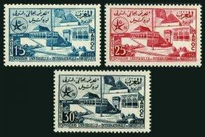 Morocco 22-24,MNH.Michel 432-434. World's Fair,Brussels-1958.