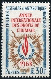 FSAT Scott 32 (SG50) MVFNHOG - 1968 Human Rights Year - SCV $60.00