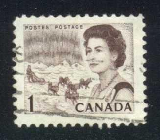 Canada #454 Dog Sled, used (0.25)