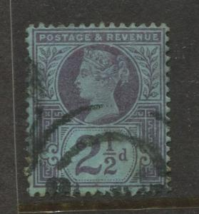 Great Britain  #114  Used 1887 Single 2.1/2p Stamp