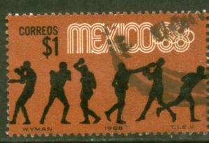 MEXICO 994, $1P Boxing 4th Pre-Olympic Set Used (755)
