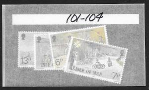 ISLE OF MAN Sc#101-104 Complete Mint Never Hinged Set