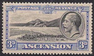Ascension Island 1934 KGV 3d Long Beach MM SG 25 ( F972 )