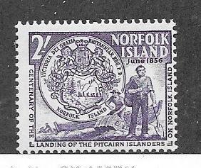 Norfolk Islands  #20 2sh  (MNH)  CV $2.00