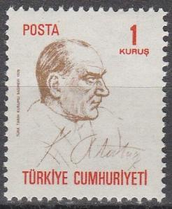 Turkey #1832  MNH