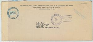 79013 - GUATEMALA - Postal HIistory -  OVERSIZED COVER official mail AGRICOLTURE