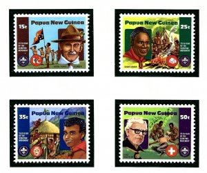 Papua New Guinea 554-57 MNH 1982 Boy Scouts