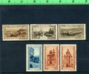 6 VINTAGE LA BELLE FRANCE Poster Stamps Cinderella PASSION DE POITERS PARIS L301