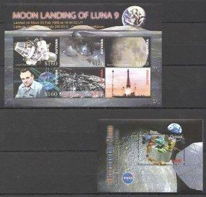 O1368 2006 GUYANA SPACE MOON LANDING KOROLEV 1BL+1KB MNH