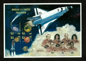 Mali MNH S/S Space Challenger 1996 Large Size