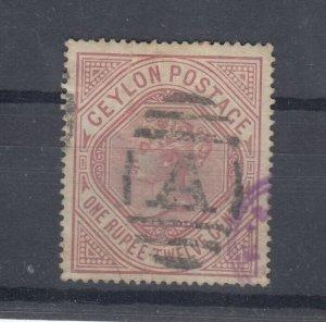 Ceylon QV 1887 1R 12c SG201 Fine Used J7596