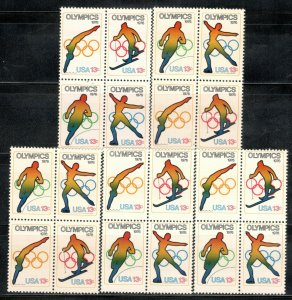1695-8 Olympic Games Wholesale Lot Of 5 Blocks Of 4 Mint/nh FREE SHIPPING