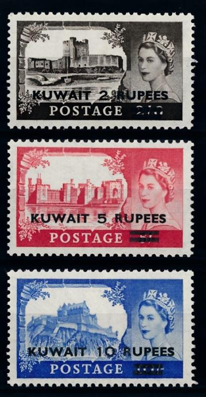 [68344] Kuwait 1955 QE II Castles  OVP on GB Stamps MLH