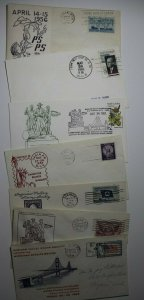Saginaw valley MI Stamp club Convention Show Philatelic Expo Cachet Cover Lot