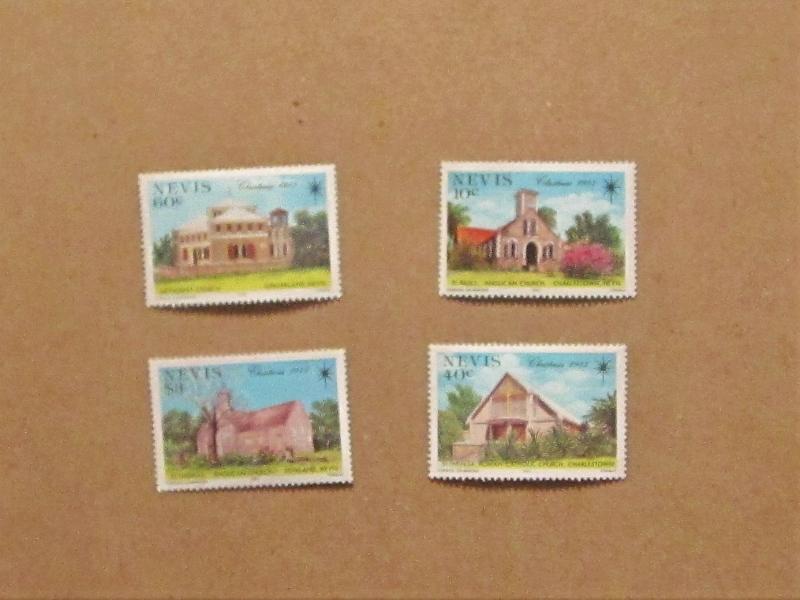 Nevis - 456-9, MNH Set. Christmas. SCV - $2.20