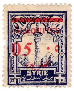 (I.B) Syria Revenue : Duty Stamp 5c on 10pi OP (French Occupation)