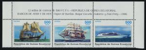 Equatorial Guinea 221 Top Strip MNH Ships
