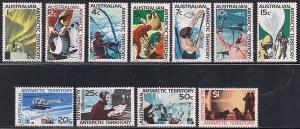 Australia Antarctic Territory L8-L18 MNH
