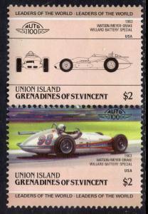 St Vincent Grenadines Union Island 161 Cars MNH VF