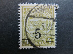 A4P26F59 Letzebuerg Luxembourg 1916-24 surch 5c on 4c used