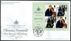HERRICKSTAMP GREAT BRITAIN Sc.# 3731 Prince Harry Wedding S/S FDC Edinburgh