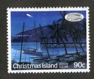 CHRISTMAS ISLAND 182 MH SCV $1.10 BIN $0.45 HALLEY'S COMET