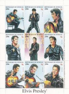 Senegal # 1350,  Elvis Presley, Sheet of 9, 15%, (See Notes)