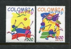 Colombia 1136-1137, MNH, Colombia in Peace 1997. x23473