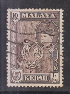 Malaya Kedah 1957 Sc 88 10c Used