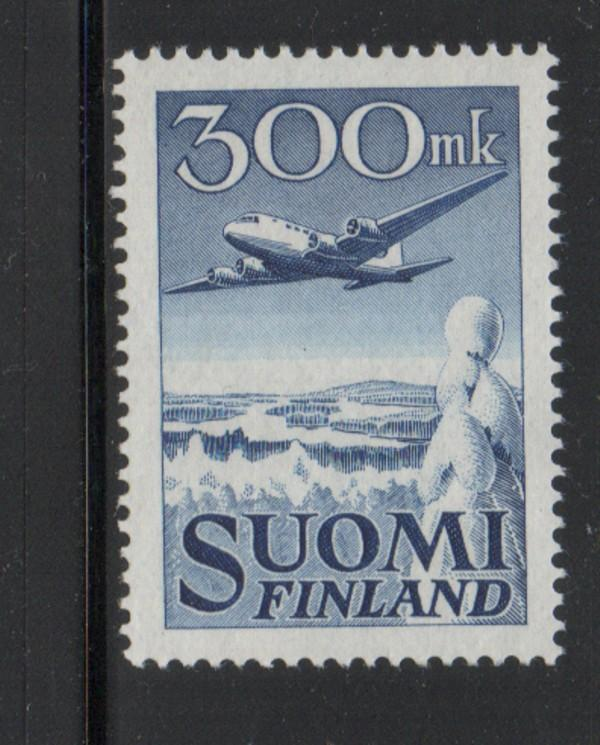 Finland Sc C3 1950 DC-6 Airplane Airmail stampmint NH