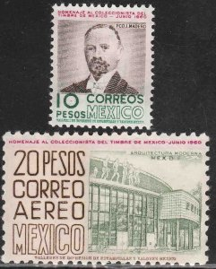 MEXICO 909, C249, ANNUAL MEPSI MEETING, HOMAGE TO STAMP COL 1960. MINT, NH. VF.