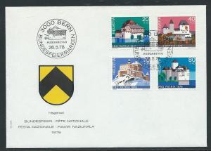 Switzerland B455-8 1978 Pro Patria UA FDC