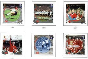 Isle of Man Sc 1145-0 2006 World Cup Soccerstamp set used