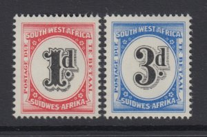South West Africa, Scott J94-J95 (SG D55-D56), MNH