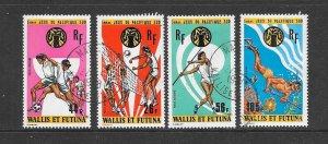 WALLIS & FUTUNA #C61-64  SOUTH PACIFIC GAMES   CANCELLED