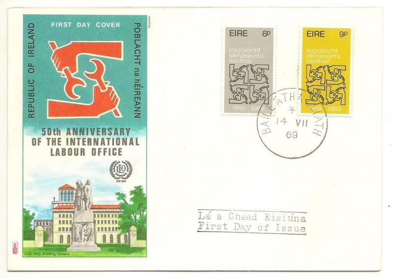 Ireland 1969 ILO FDC
